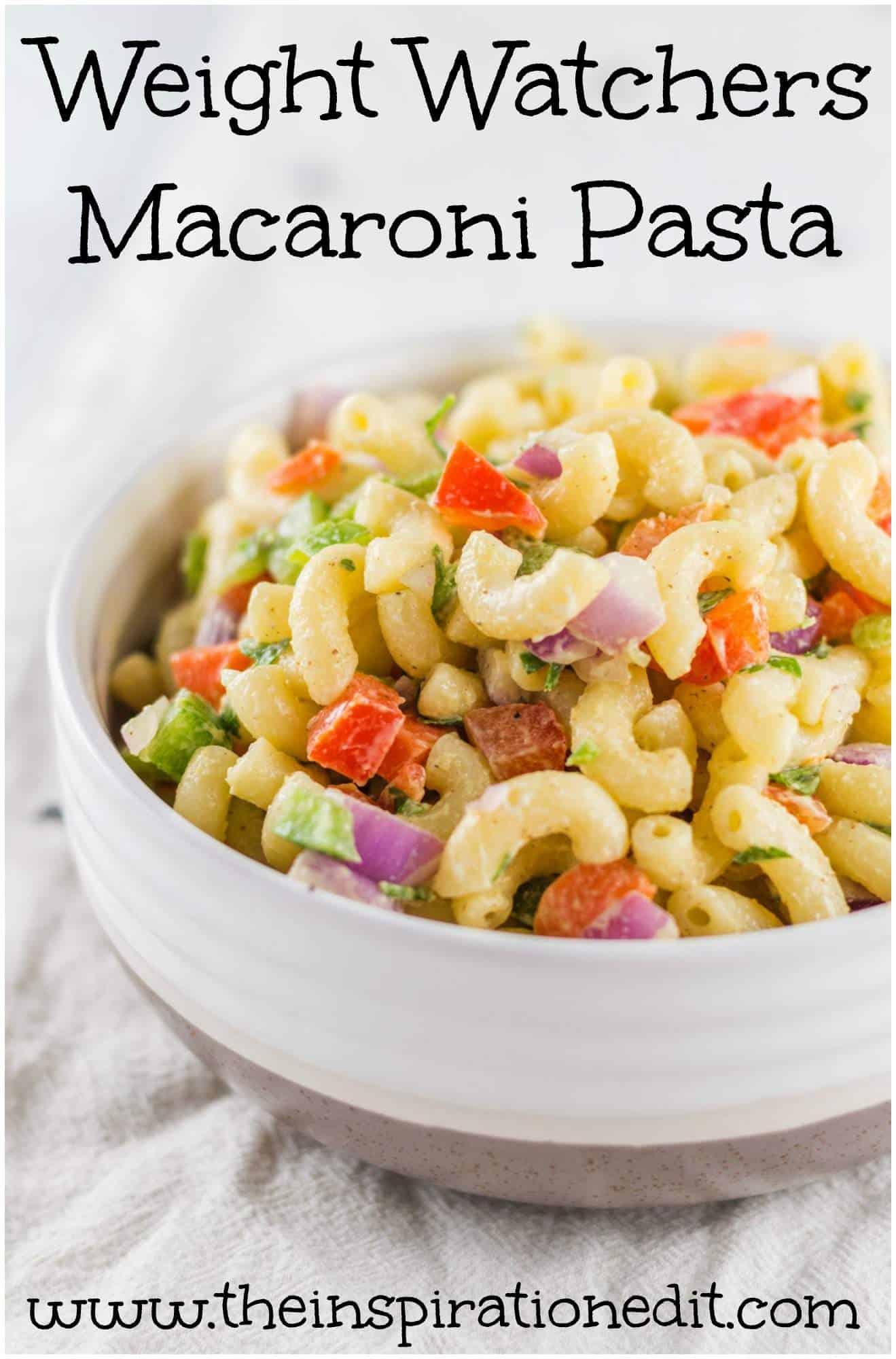 Weight Watchers Macaroni Pasta recipe