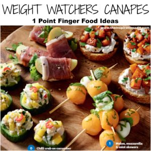 weight watchers christmas canapes