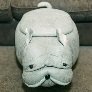 Penelope Pug Storage Footstool