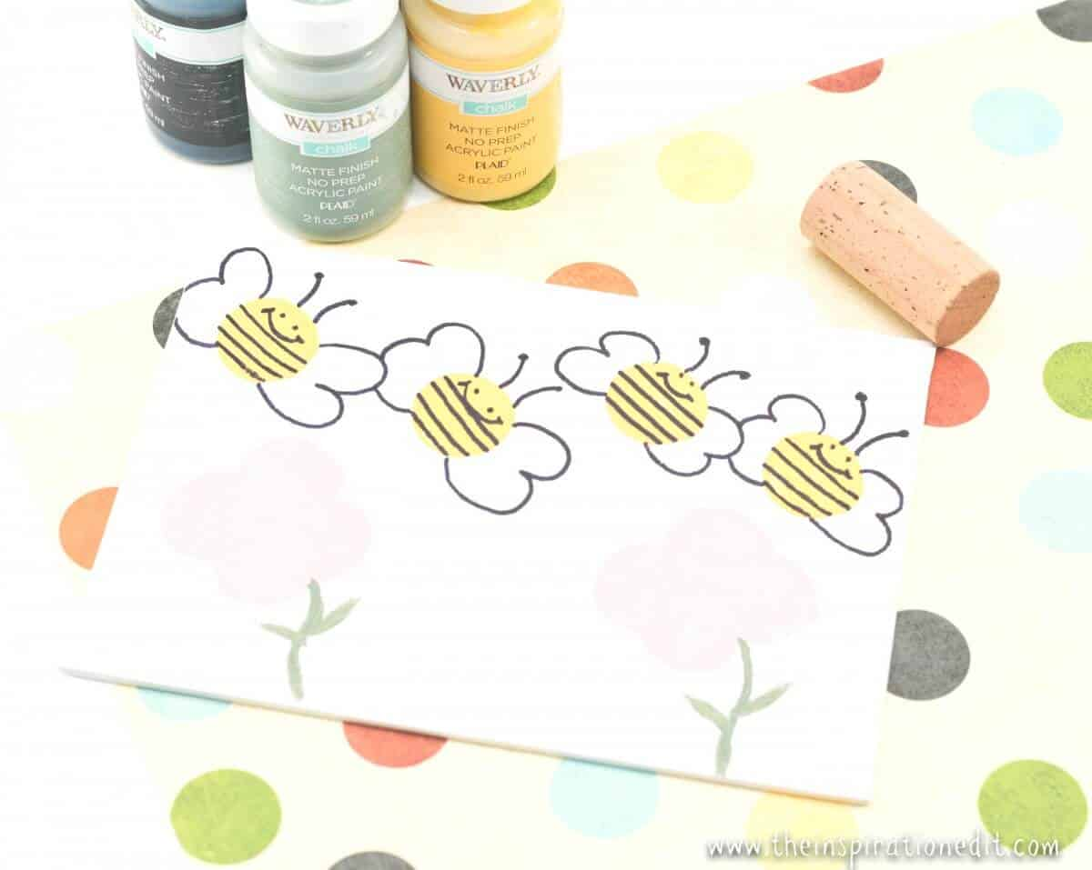 Bumble Bee Wine Cork CraftBumble Bee Wine Cork Craft