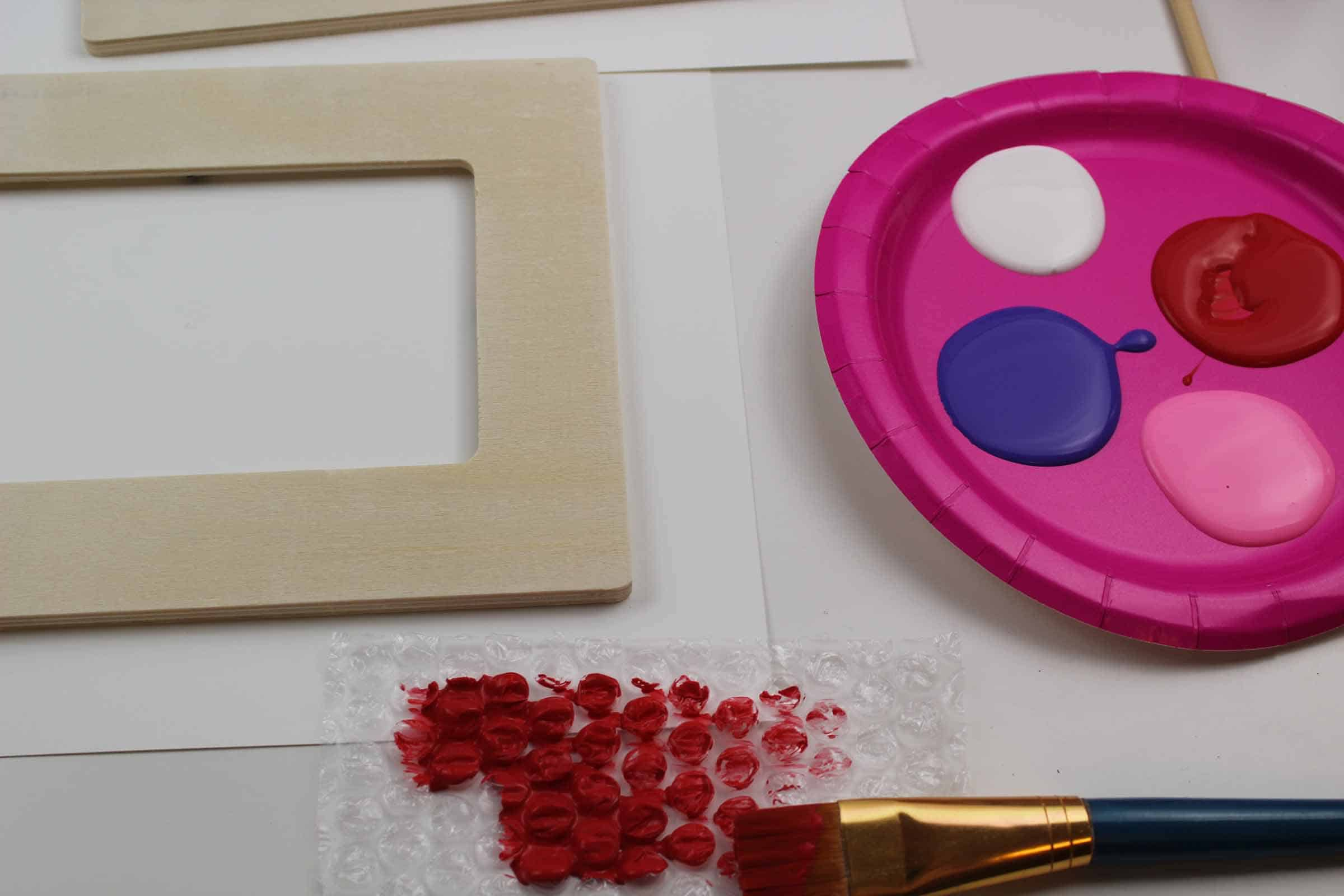 The frame and paint