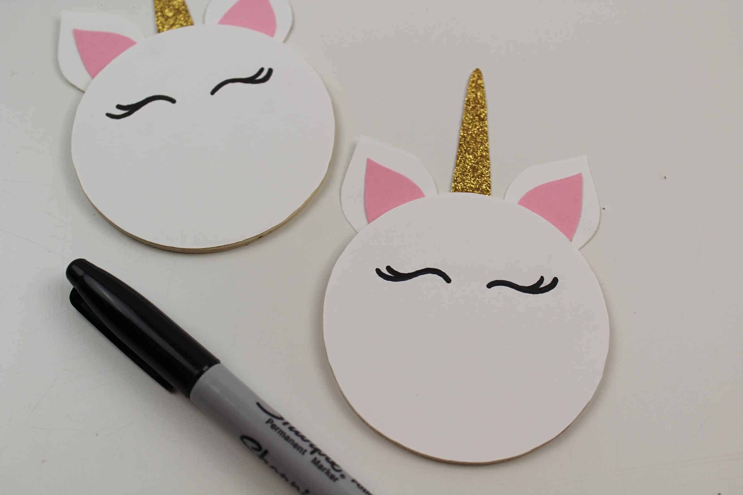 drawing eyes on your unicorn magnet