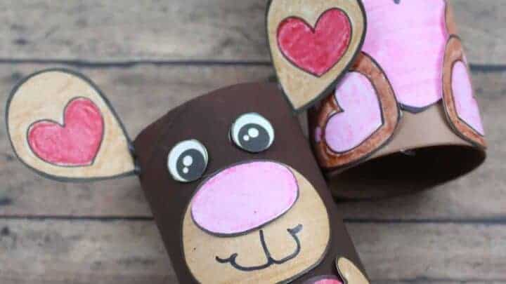 valentines bears cute tube craft
