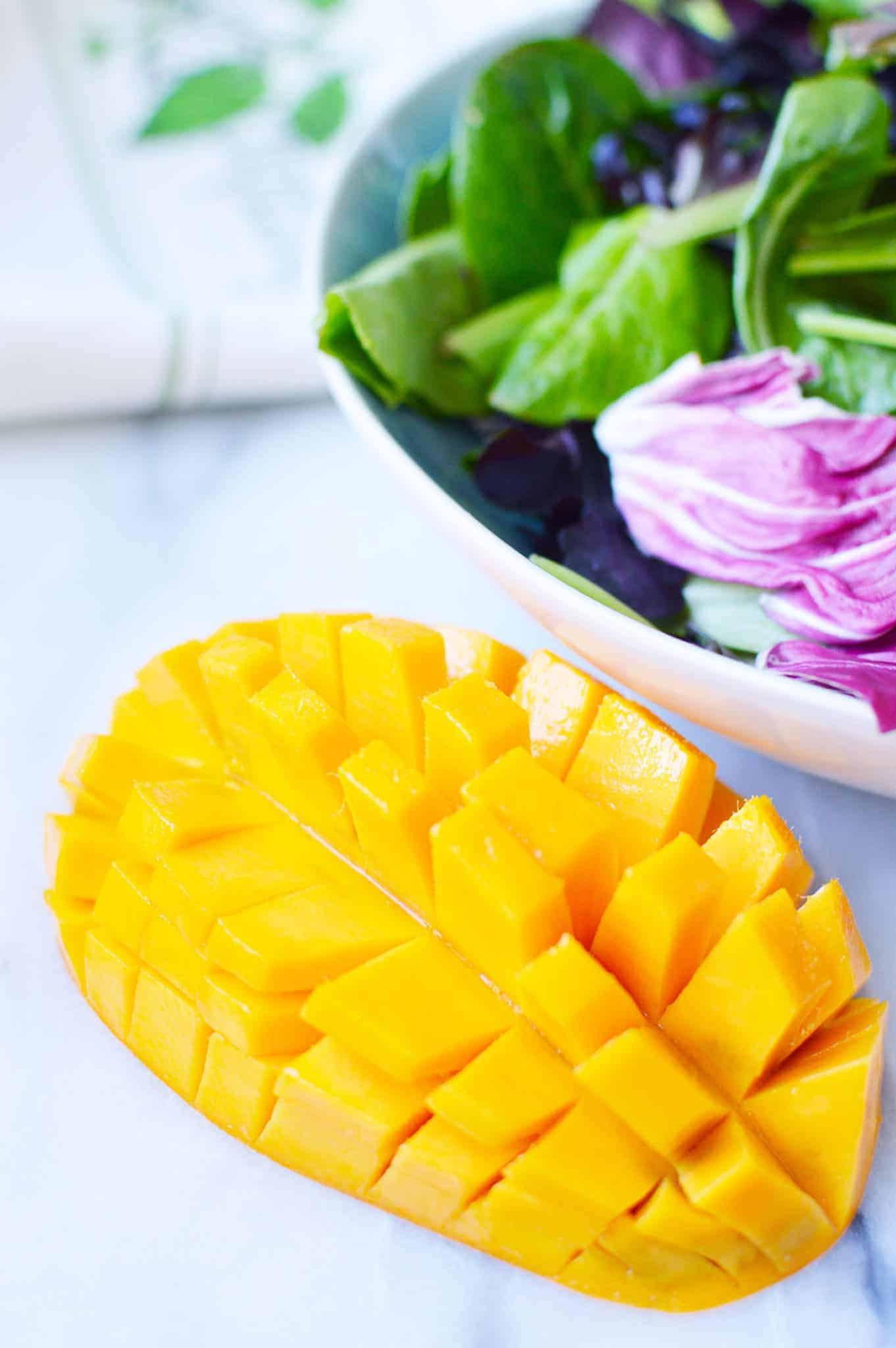 chicken mango salad recipe - 3 weight watchers points