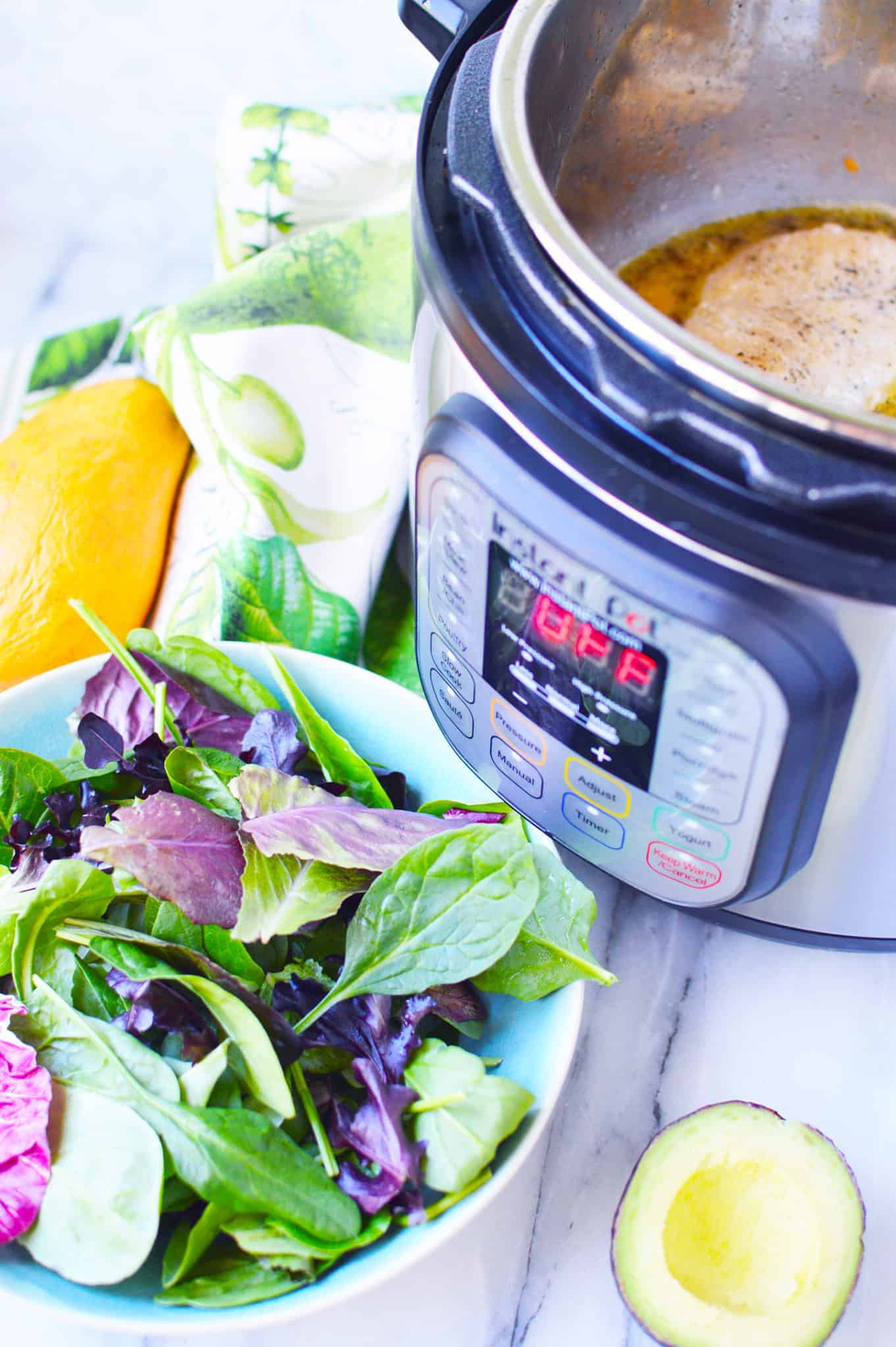 weight watchers chicken mango salad recipe in the instant pot