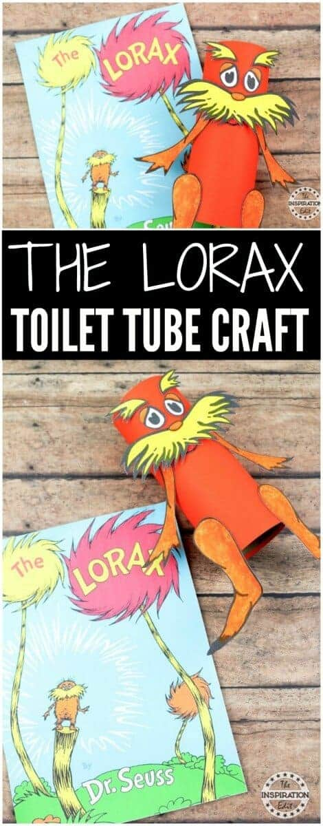 LORAX toilet tube craft