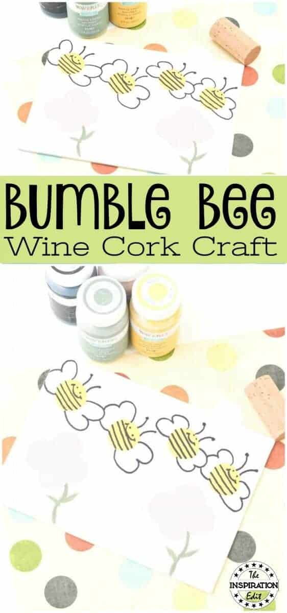 BUMBLE BEE WINE CORK CRAFT