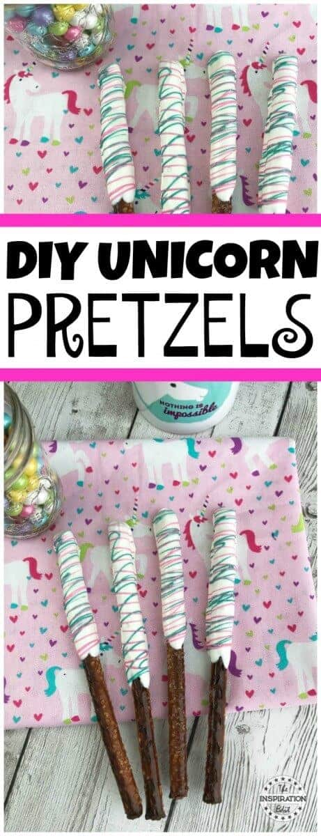 Unicorn Pretzels Pinterest Pin