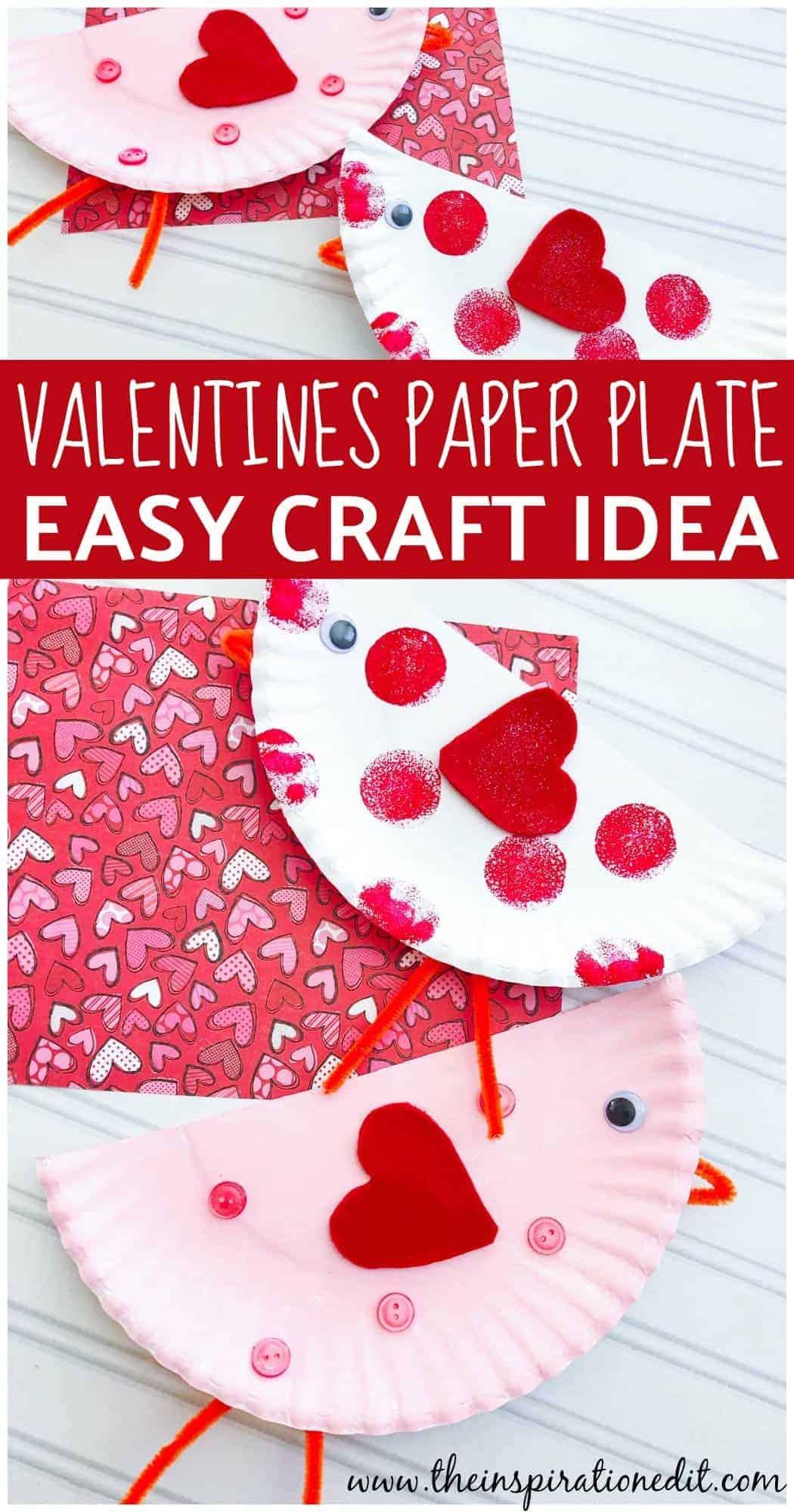 paper plate valentines craft idea for kids cute birds