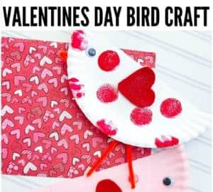paper plate valentines craft idea for kids cute birds