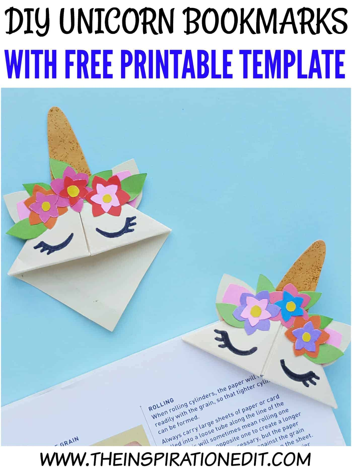 picture regarding Free Printable Corner Bookmarks identify Uncomplicated Do it yourself Unicorn Bookmark Craft For Little ones · The Commitment Edit