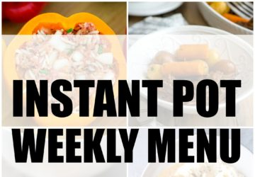 instant pot weekly menu plan