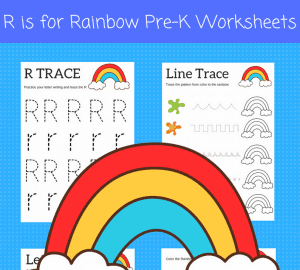 R is for Rainbow preschool printables