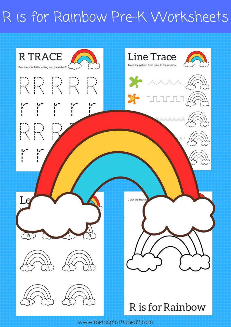 R is for Rainbow preschool printables