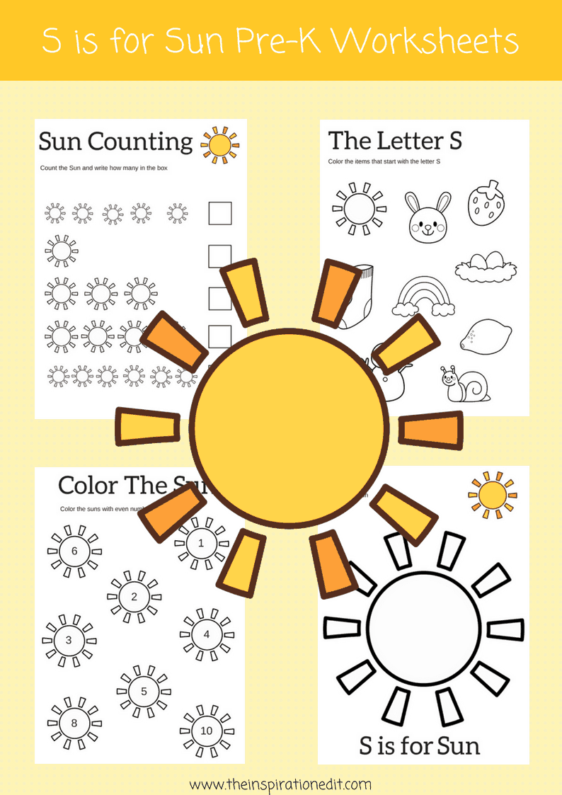 S Is For Sun Letter S Worksheets 183 The Inspiration Edit