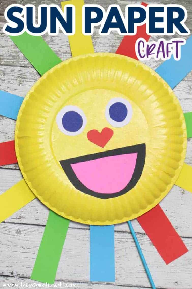 Sun paper plate craft