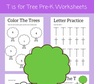 letter t worksheets for preschool kids