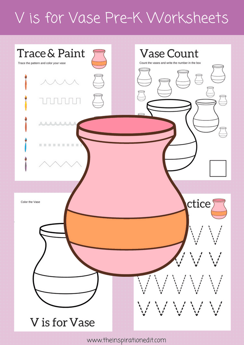 V IS FOR VASE preschool printables