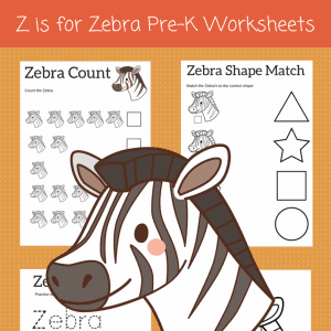 Z is for Zebra letter z worksheets