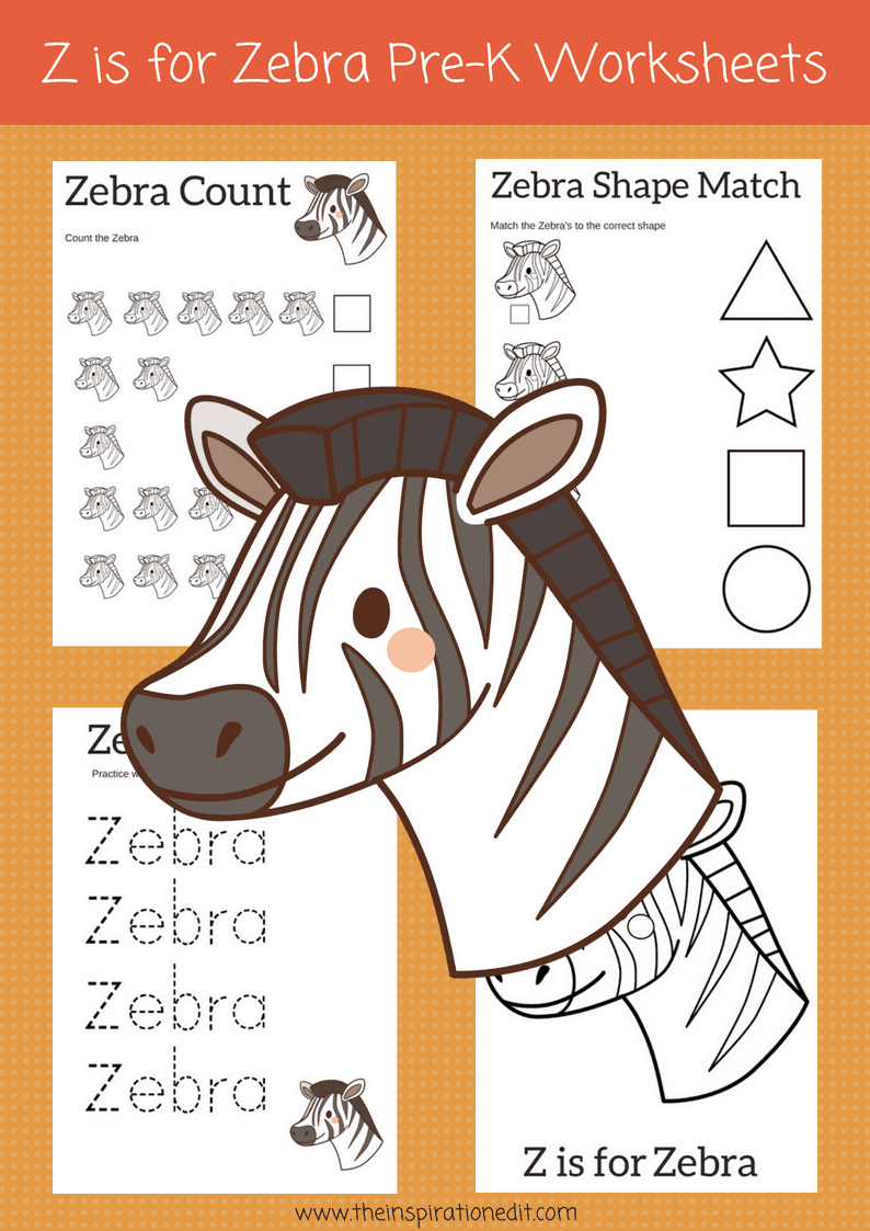 Z is for Zebra Preschool Printables and Zebra Craft · The ...