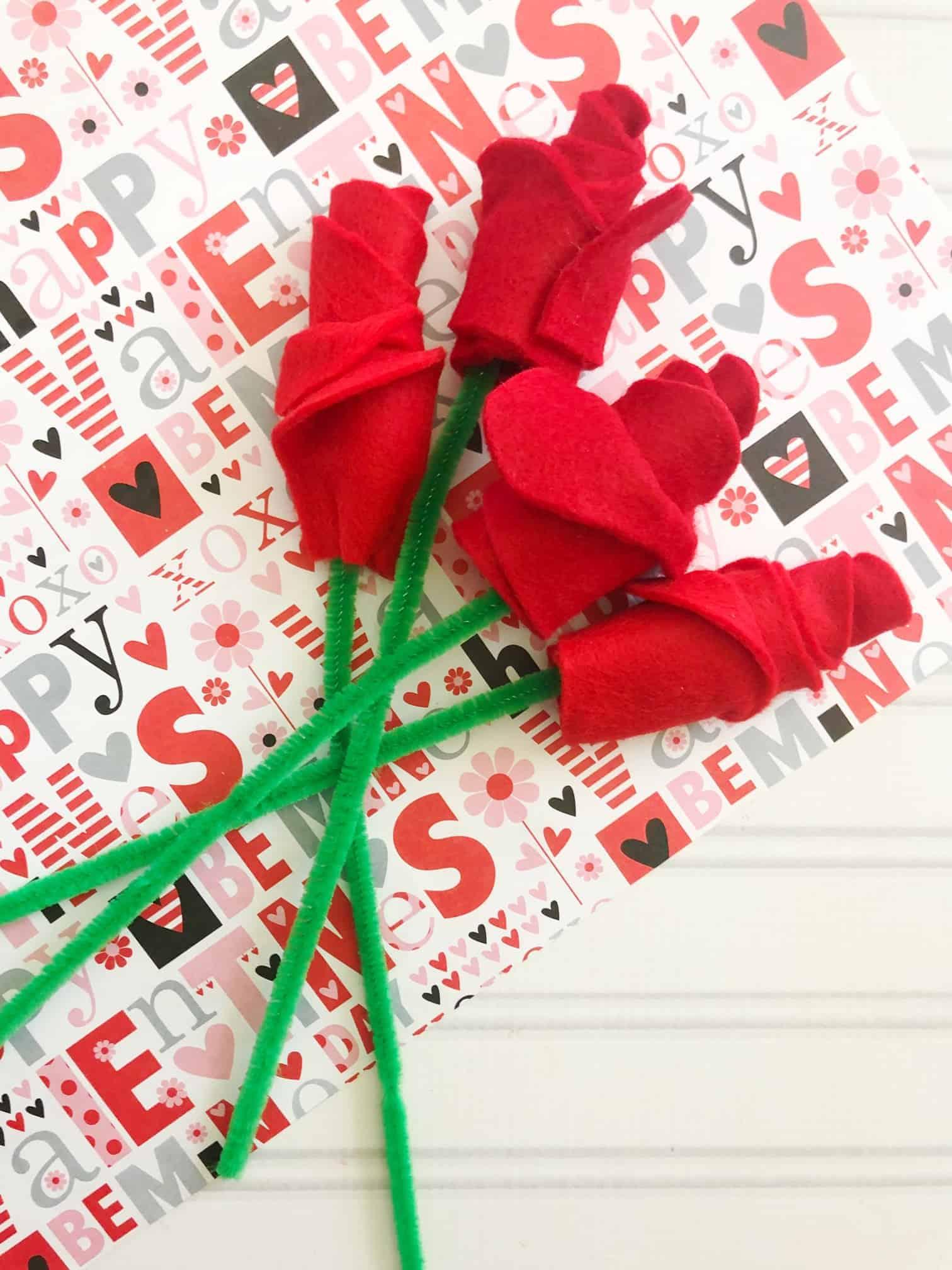 valentines roses craft