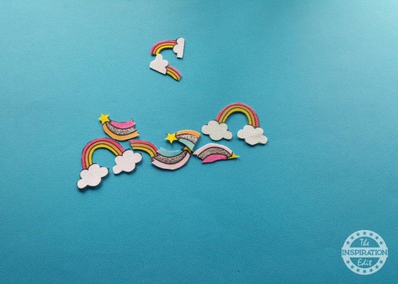 rainbow bar sensory bottle or sensory jar idea!