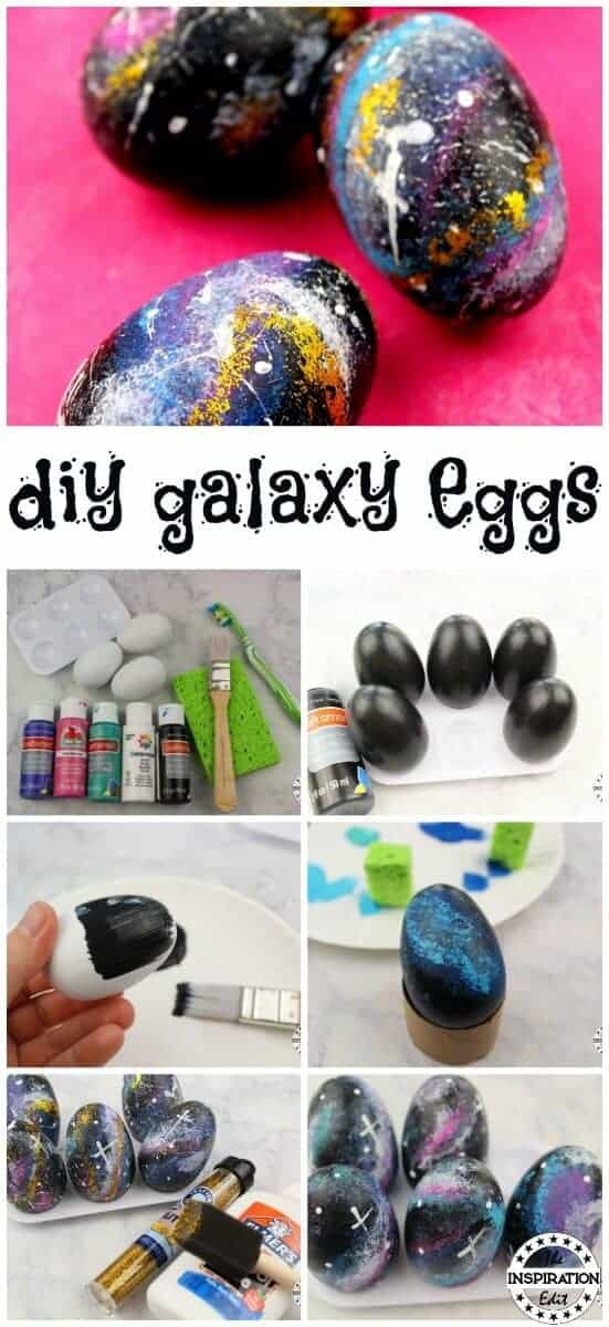 galaxy easter egg painting