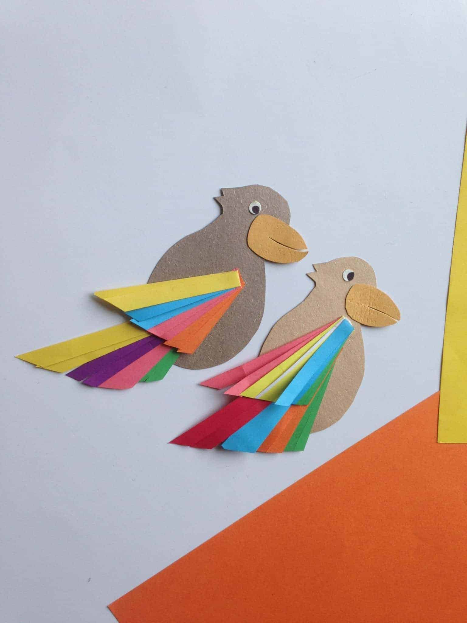 diy paper bird craft
