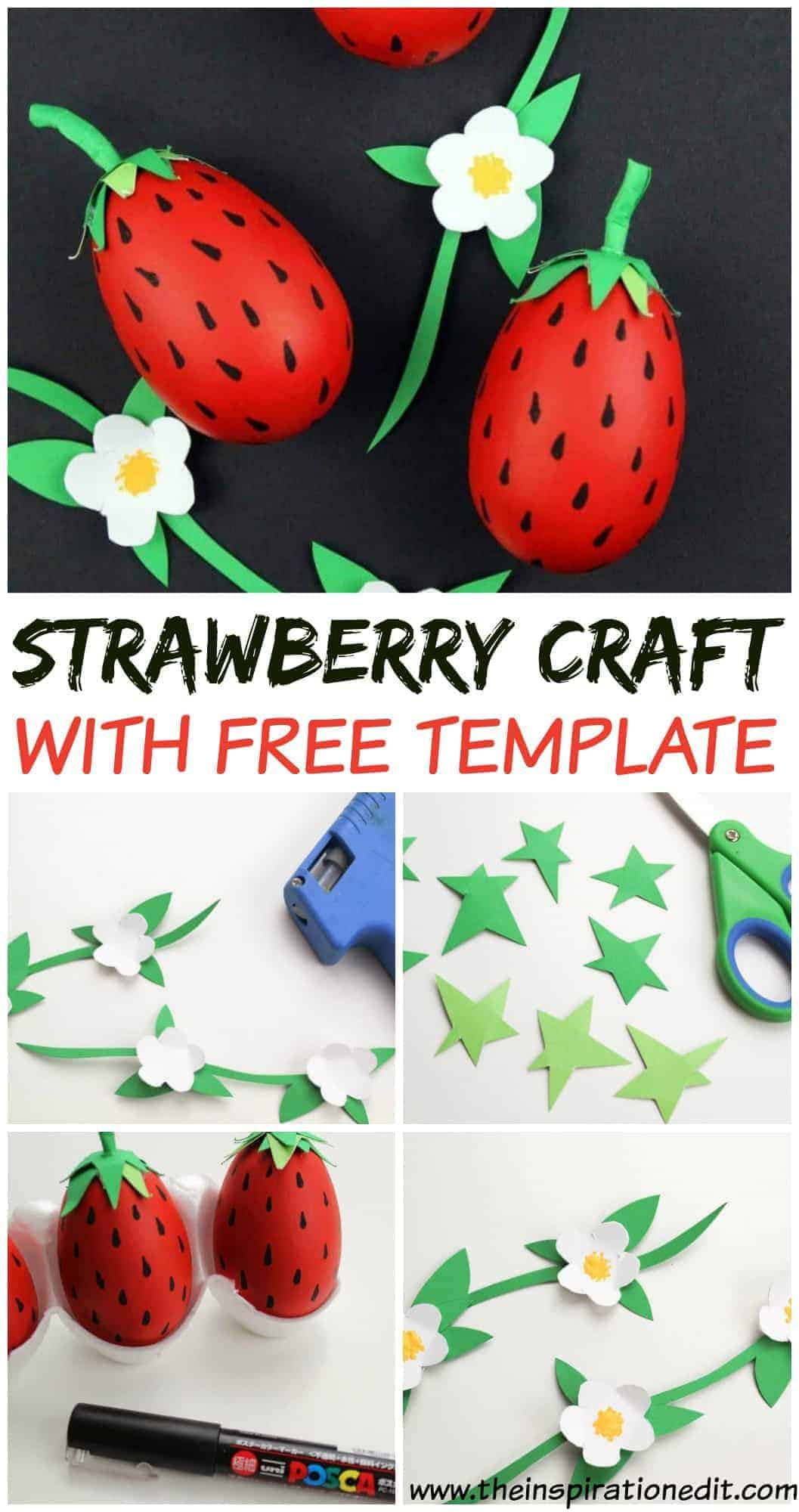 diy strawberry craft