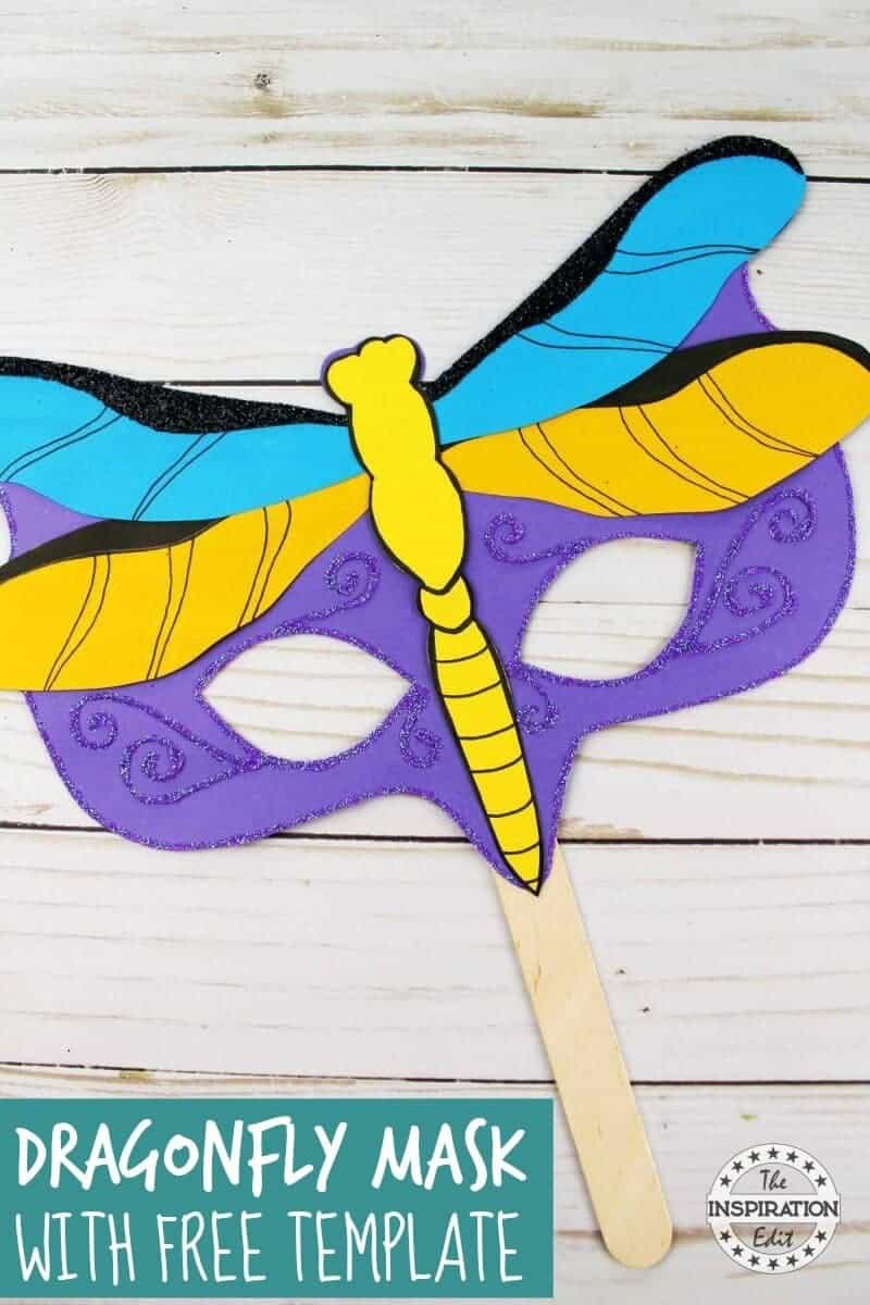 easy kids craft dragon fly mask