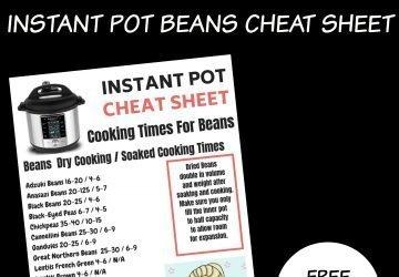INSTANT POT BEANS CHEAT SHEET