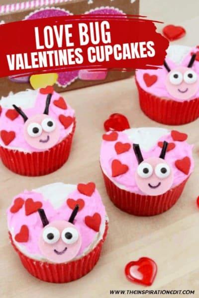 Love Bug Valentines Cupcakes