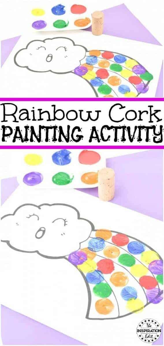 rainbow cork painting