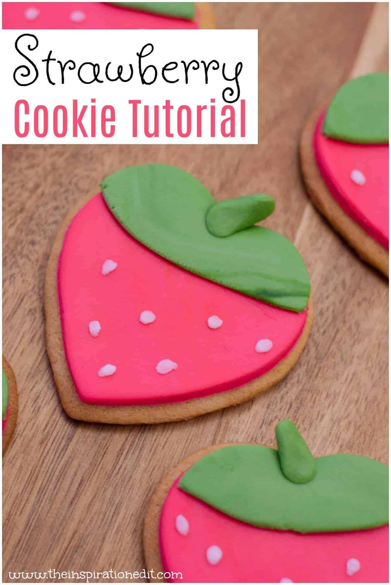 Strawberry cookies