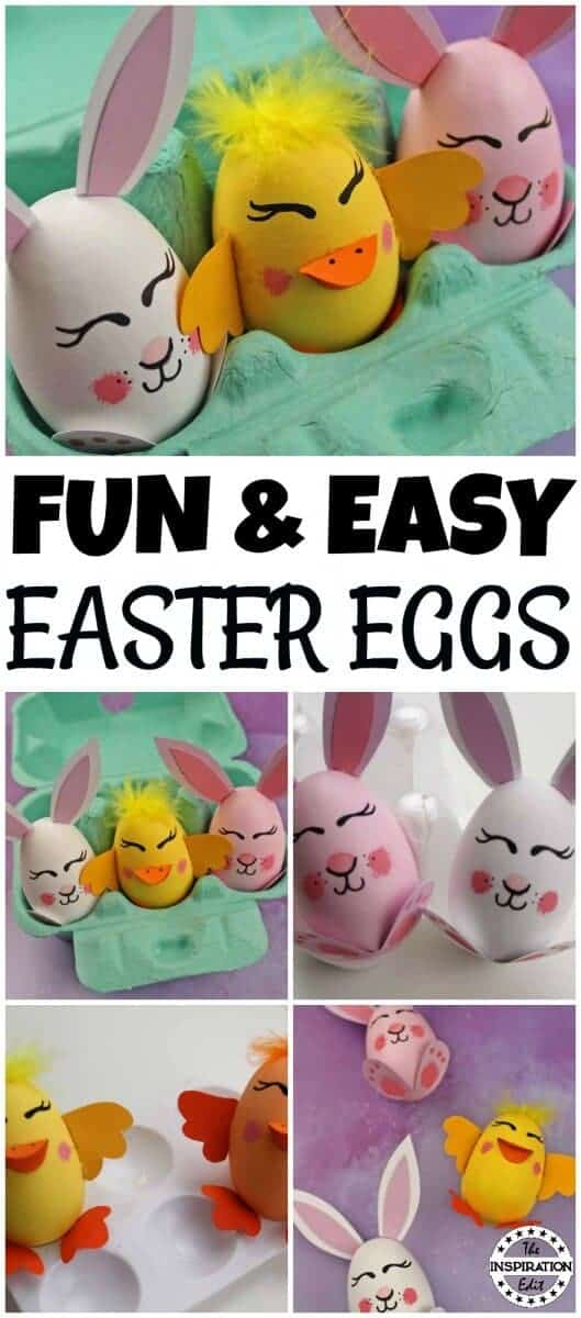 diy Chick easter Eggs
