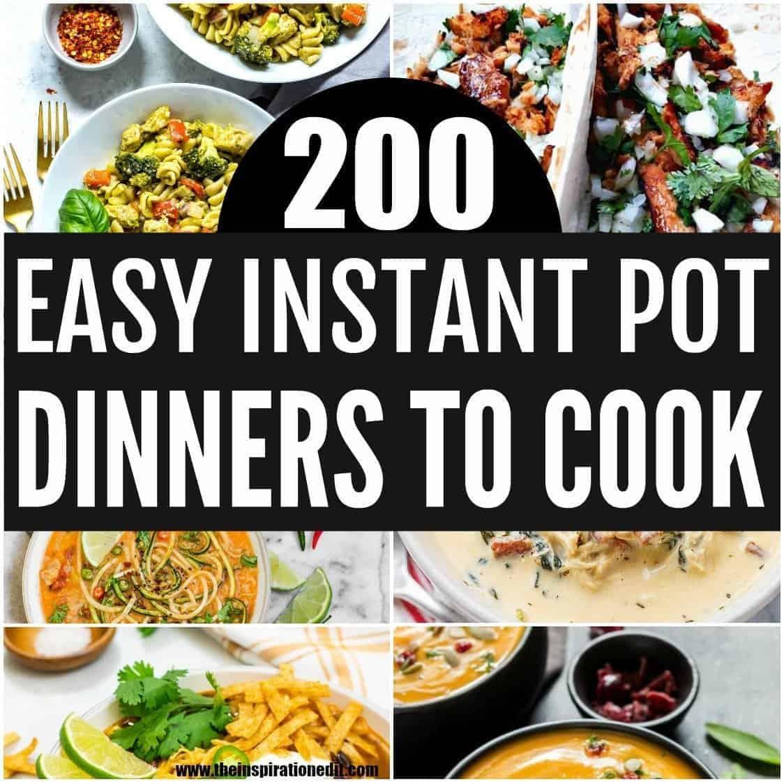 easy instant pot recipes for dinner