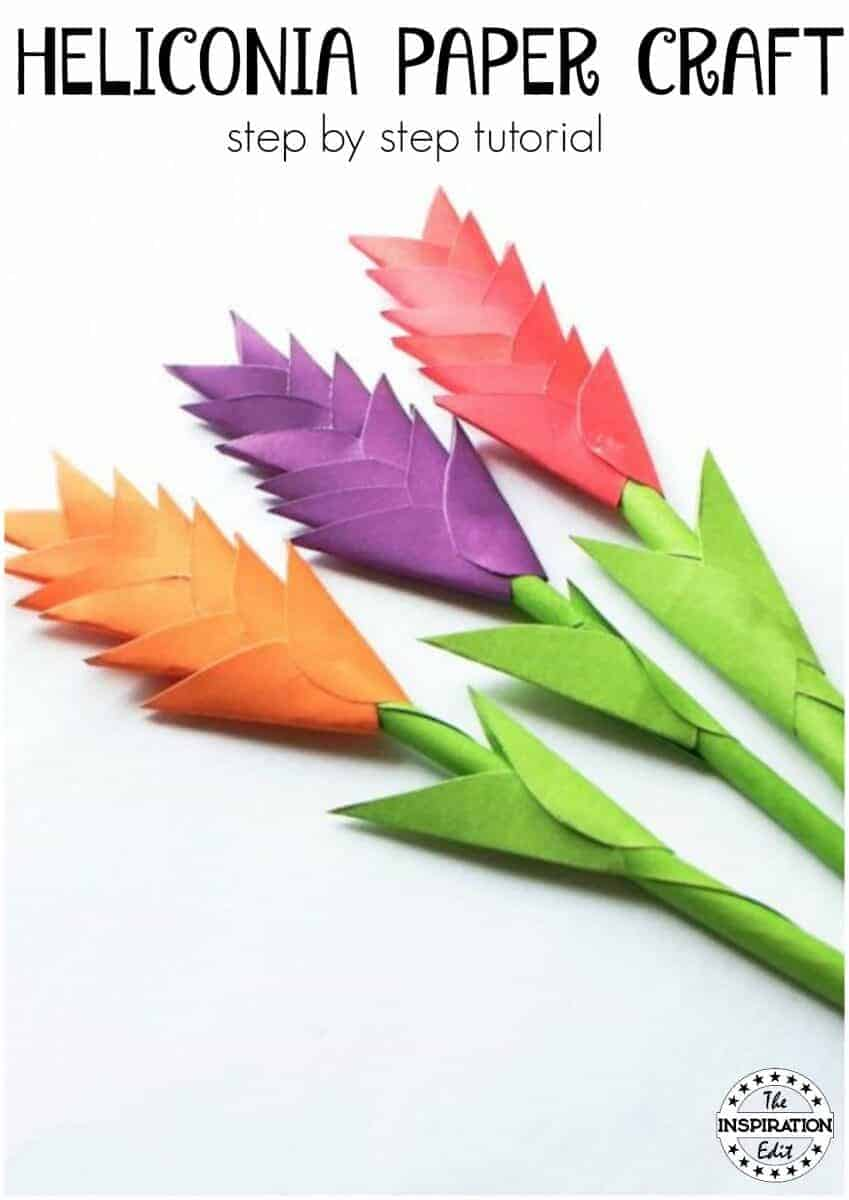 heliconia paper craft