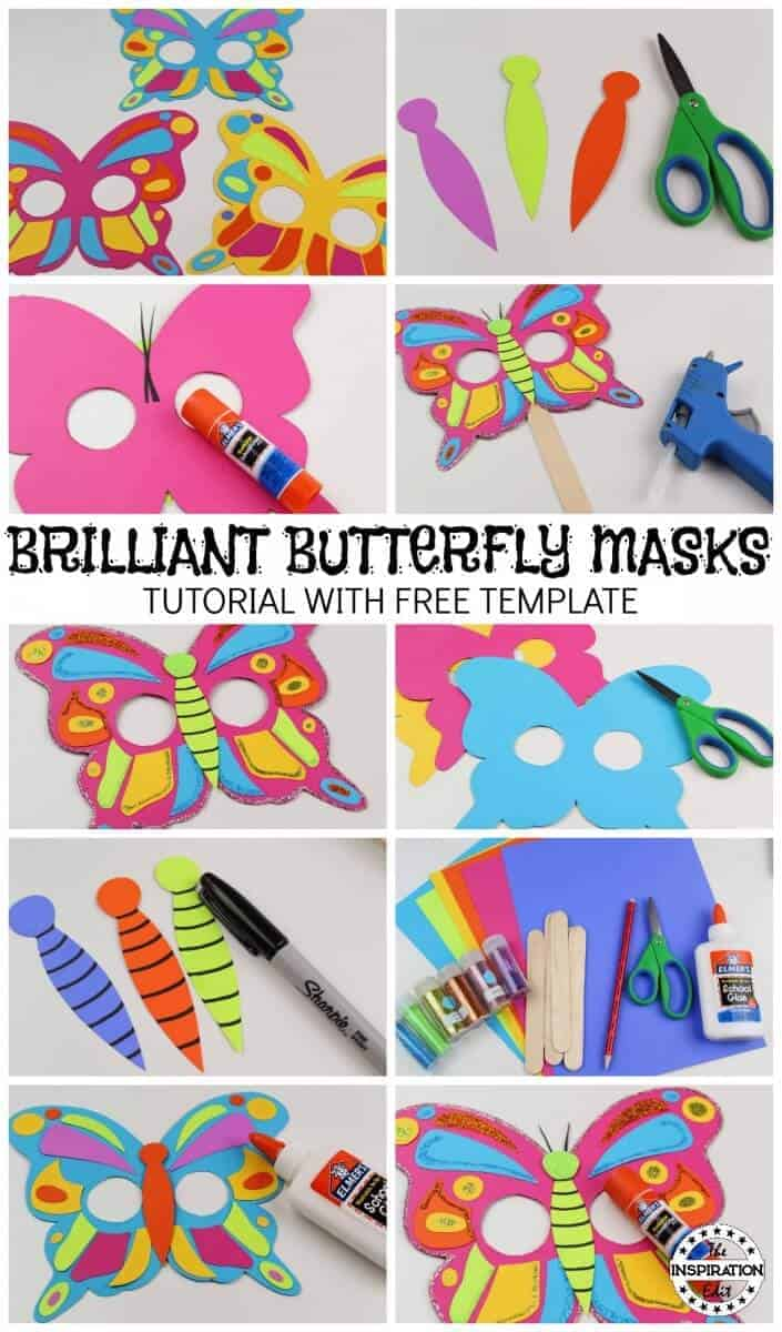 diy butterfly mask tutorial and butterfly template