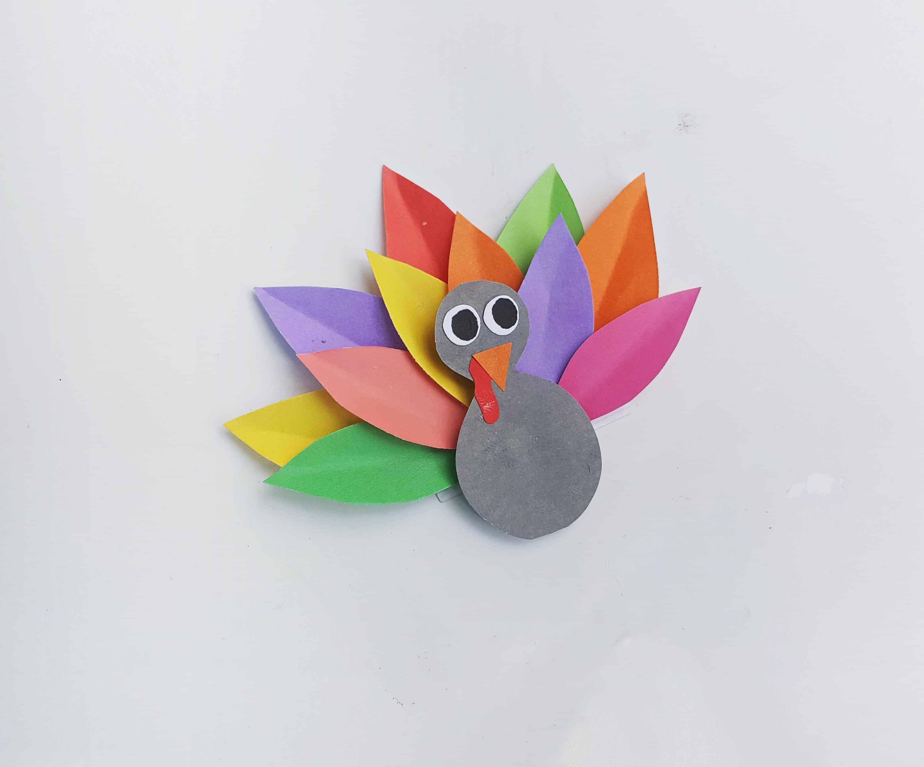 rainbow thanksgiving turkey craft