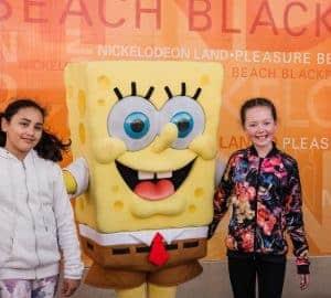 meeting sponge bob at nickelodeon land