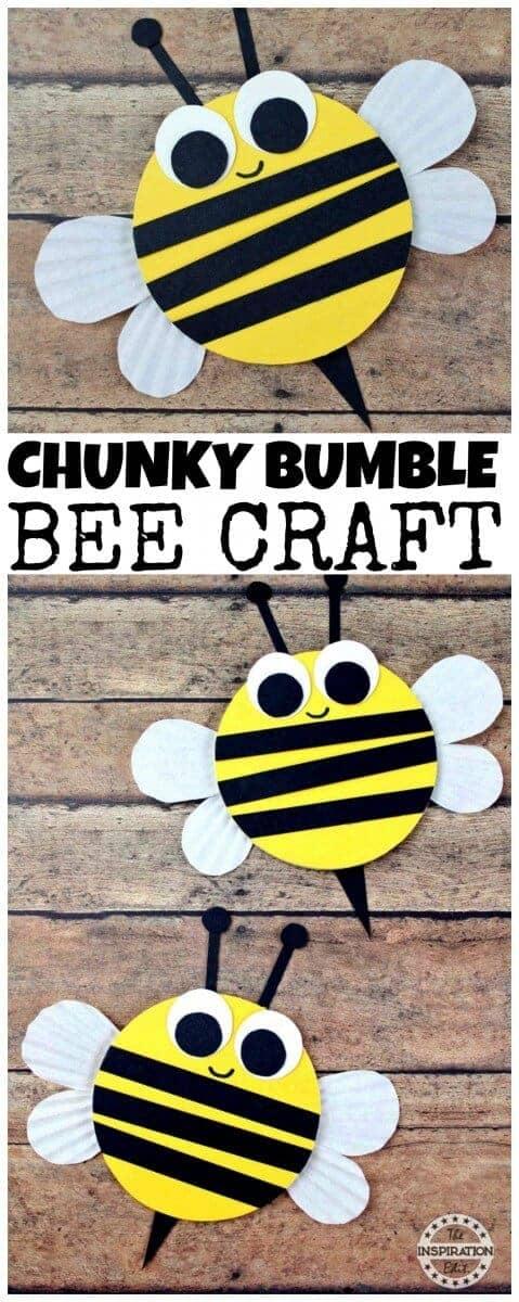 BUMBLE BEE craft for preschool kids