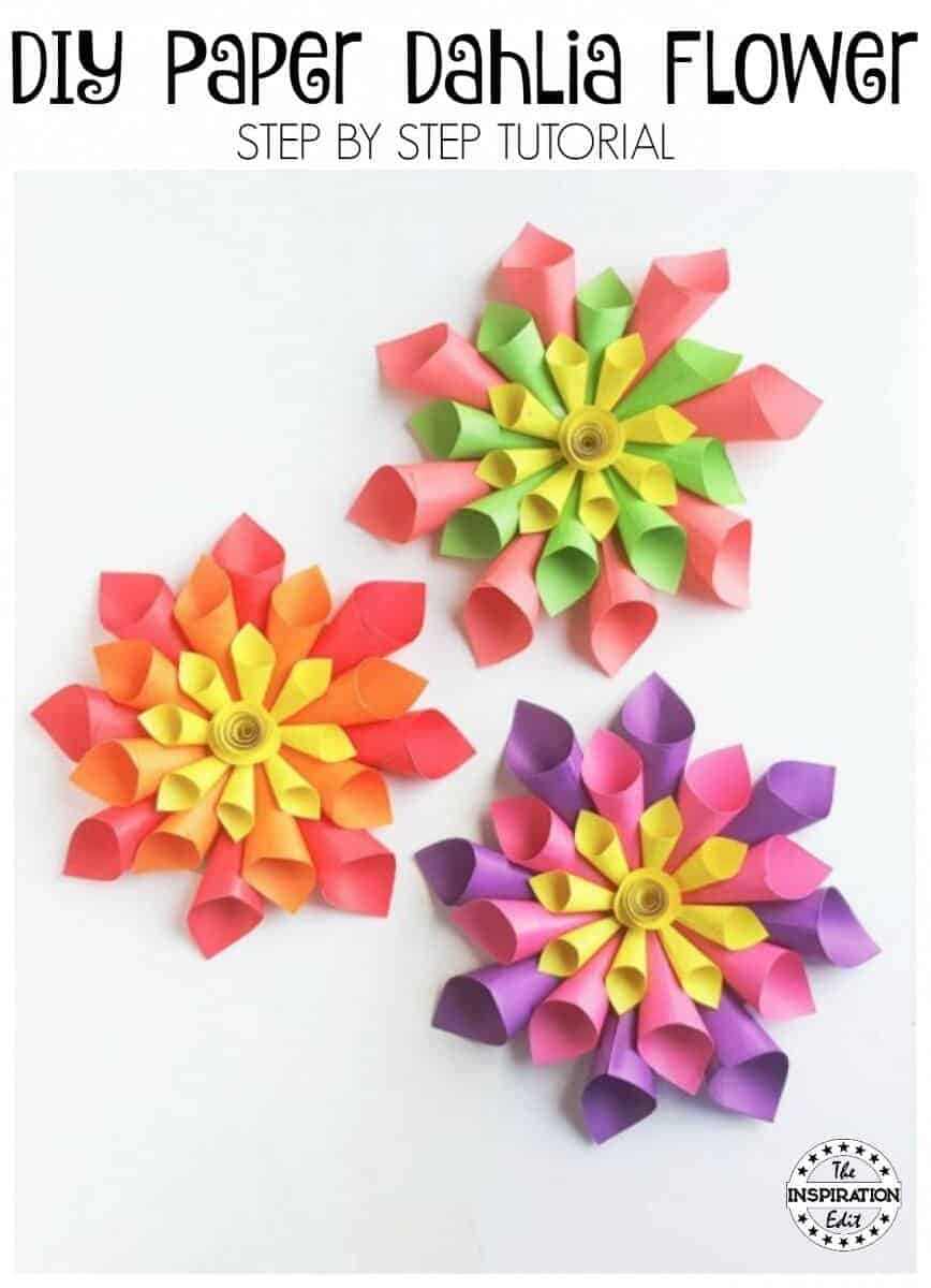 DIY Paper Flowers | How To Make Dahlia Flowers | Paper Decorations ... | 1200x868