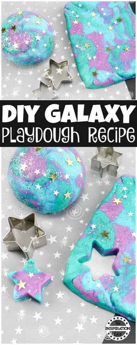 diy galaxy playdough recipe