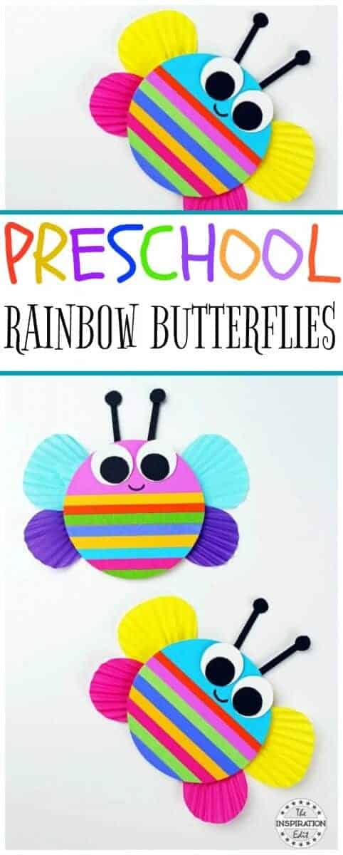 Rainbow Butterfly Craft