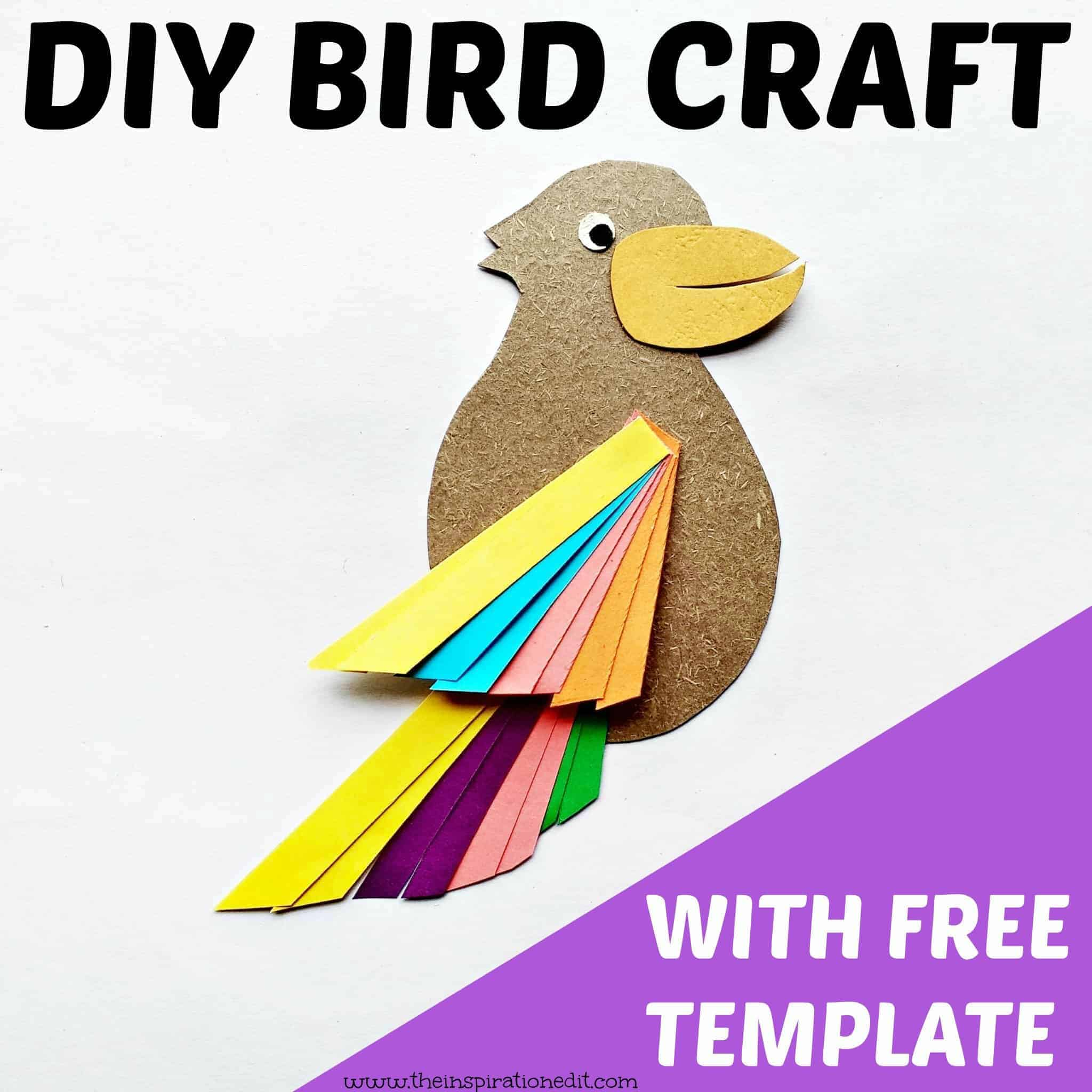 Paper Bird Craft With Free Template