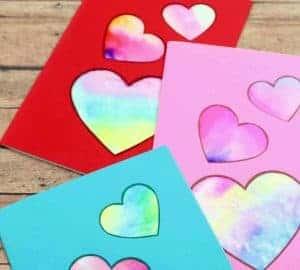 diy valentines tie dye card