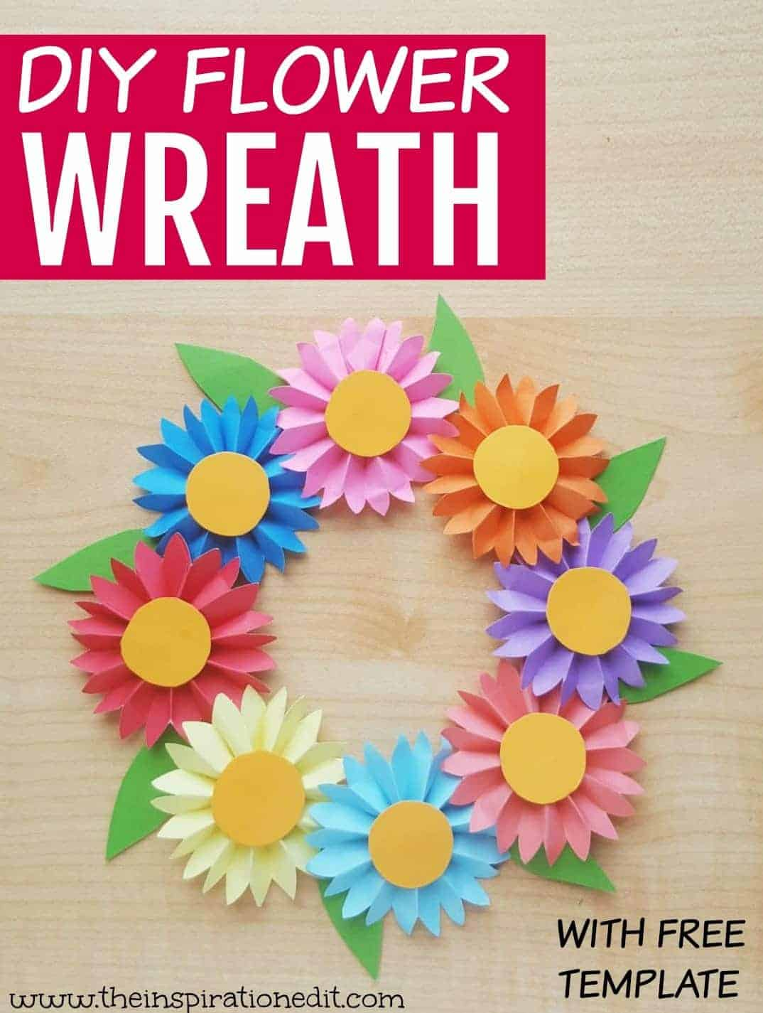 diy flower wreath craft