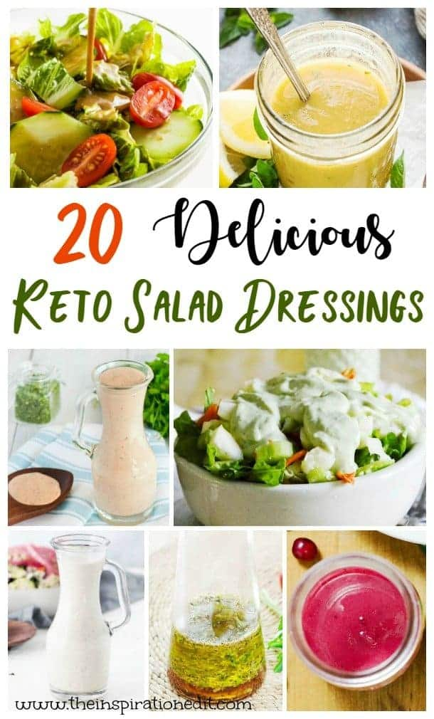 Grab these 20 delicious keto salad dressings for many low carb options.
