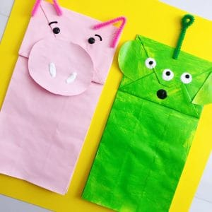 toy story paper bag puppet preschool craft