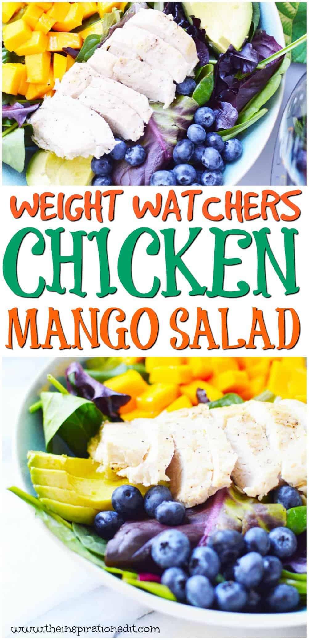 chicken mango salad only 3 weight watchers points